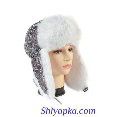 Шапка-ушанка женская