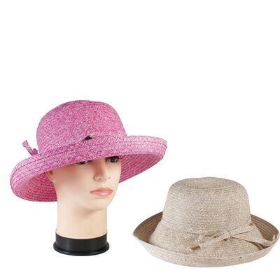 Шляпа летняя с поднятыми по кругу полями