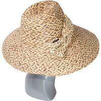 Шляпа соломенная с украшением в виде бантафото