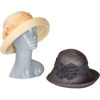 Шляпа соломенная декорированная лентойфото
