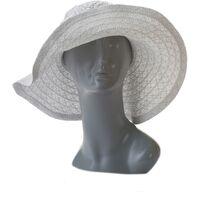 Шляпа женская белая с камнямиизображение