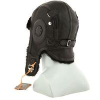 Шапка-шлем из натуральной овчины черныйфото
