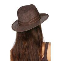 Шляпа коричневая унисексфото