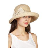 Шляпая мягкая с украшением в виде банта бежеваяизображение