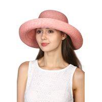 Шляпа из натуральной соломы розоваяизображение