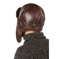 Шлем авиационный меховый коричневыйфото