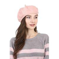 Берет из кожи нежно-розовыйизображение