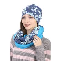 Комплект трикотажный синий со снудомизображение