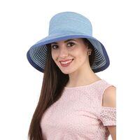 Легкая летняя шляпа голубаяизображение