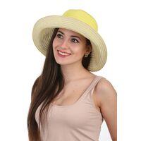 Элегантная летняя шляпа желтаяизображение