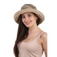 Шляпа тканевая с большими полями коричневаяизображение