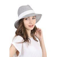 Шляпа федора черно-белаяфото