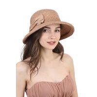 Шляпа из соломы с украшением в виде бантаизображение
