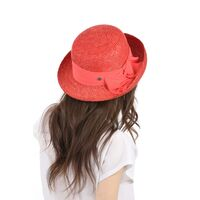 Шляпа из натуральной соломы женская с лентойфото