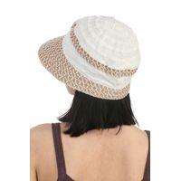 Шляпа летняя бежевая с белымфото