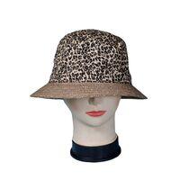 Шляпа леопардовая с соломенными полямифото